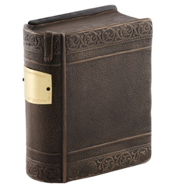 Closed book cremation urn