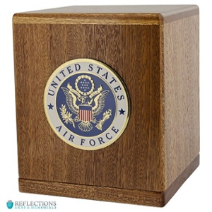 United States Air Force - Cremation wood urn box
