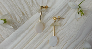 Cremation Jewelry White Earrings