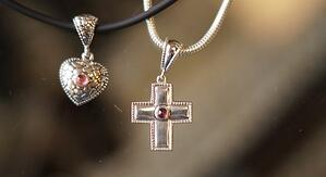 Cross Heart Necklace Cremation Jewelry