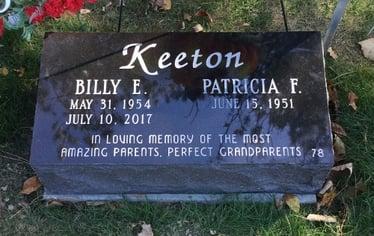 Keeton - Bevel Memorial - Companion Memorial - Woodvale Cemetery-min-1-1