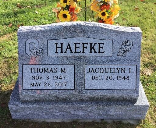 Haefke - Slant Memorial - Canfield Cemetery