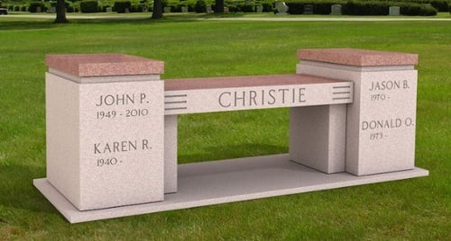 Christie Family - Cremation Memorial Bench-1