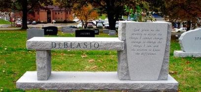 DeBlasio Family - Cremation Memorial Bench-1