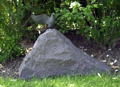 Natural Granite Rock - Recessed Urn Cremation Memorial-1