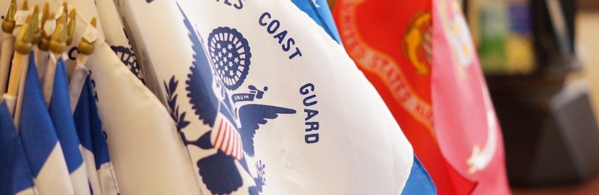 Decor Deliver Flags Coast Guard Marines