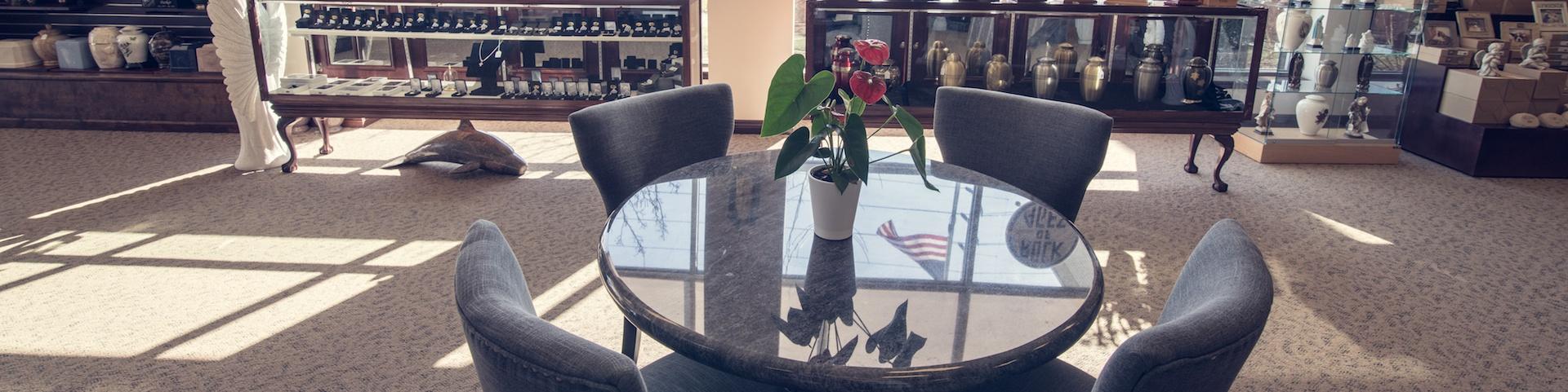 Milano Monuments Showroom Table