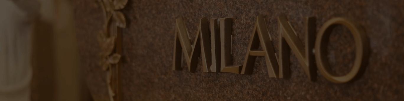 milano monuments bronze lettering