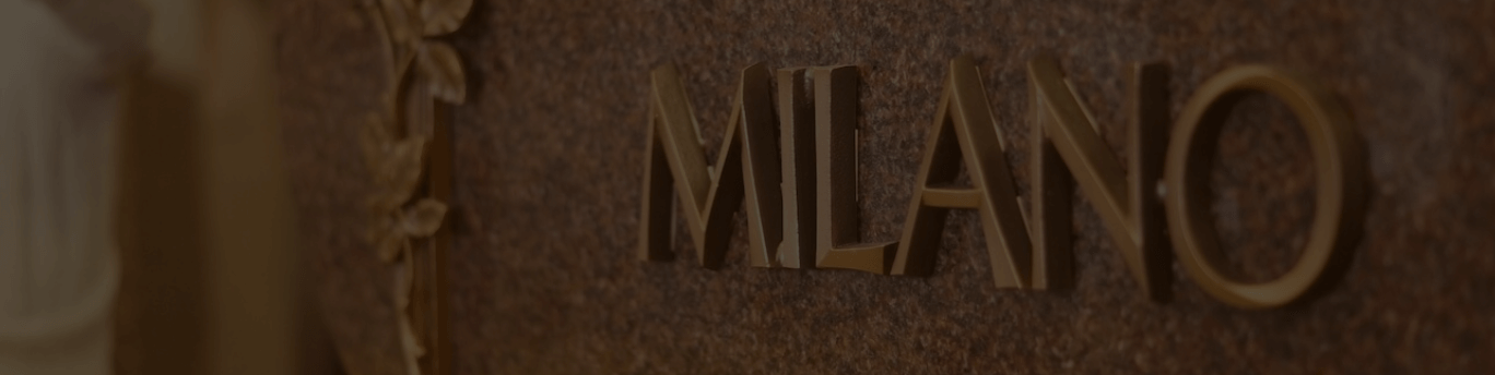 milano monuments bronze lettering