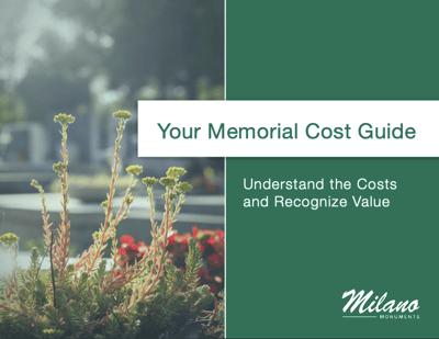 Memorial Cost Guide Cover medium
