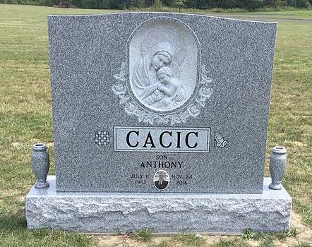 Cacic - Upright Cemetery Monument - All Souls Cemetery