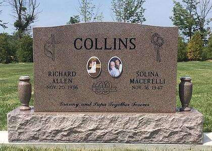 Collins - Upright Cemetery Monument - York Township Cemetery - Monument