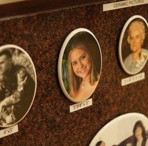 ceramic memorial photos for headstone or grave stone