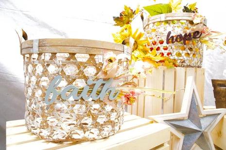 Faith Hope Two Baskets Star