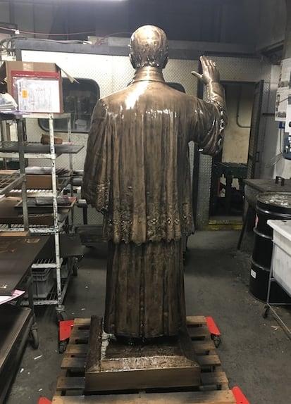 First Catholic Slovak Union Statue Reverend Furdek back post-restoration