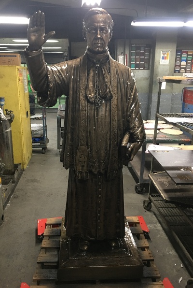 First Catholic Slovak Union Statue Reverend Furdek front post-restoration