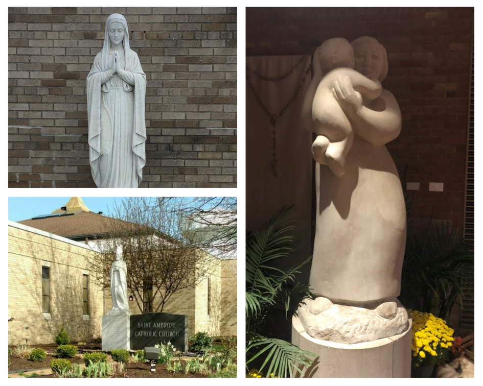St. Ambrose Catholic Church Statues - Mary