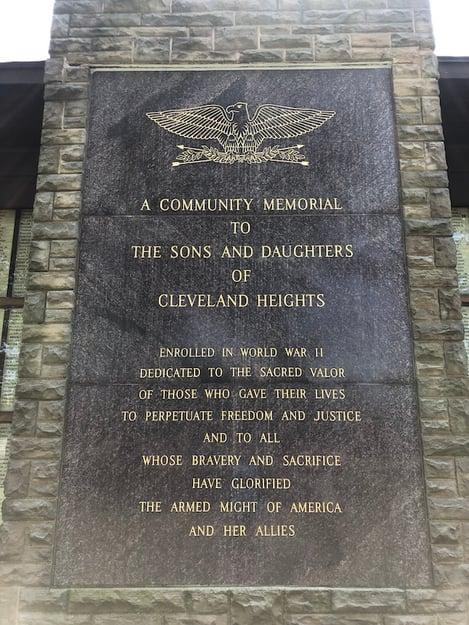 World War II Memorial - Cleveland Heights old