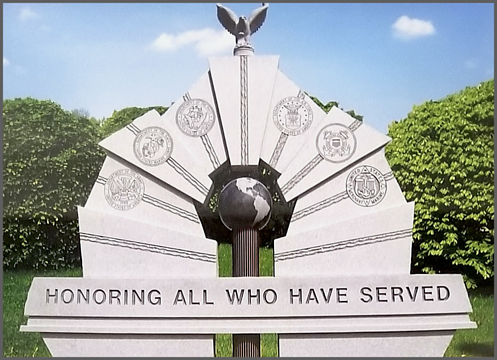 award winning commemorative design honoring all who have served