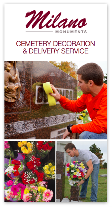 milano monuments cemetery decoration and delivery service cover