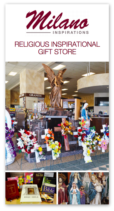 milano monuments religious gift store brochure