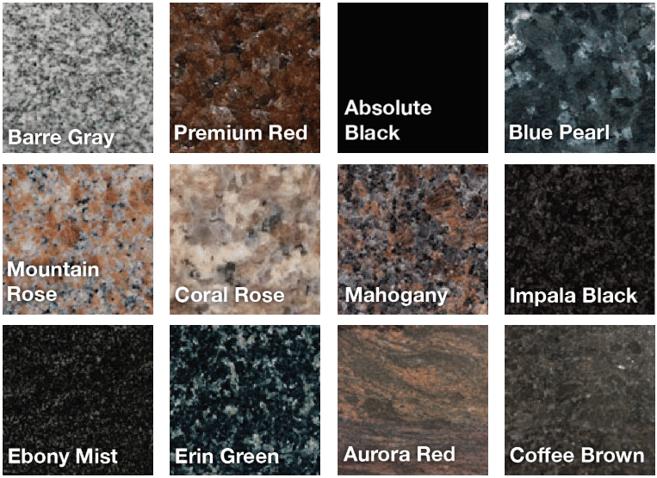 memorial-granite-varieties-colors