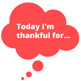 today im thankful for... red thinking bubble